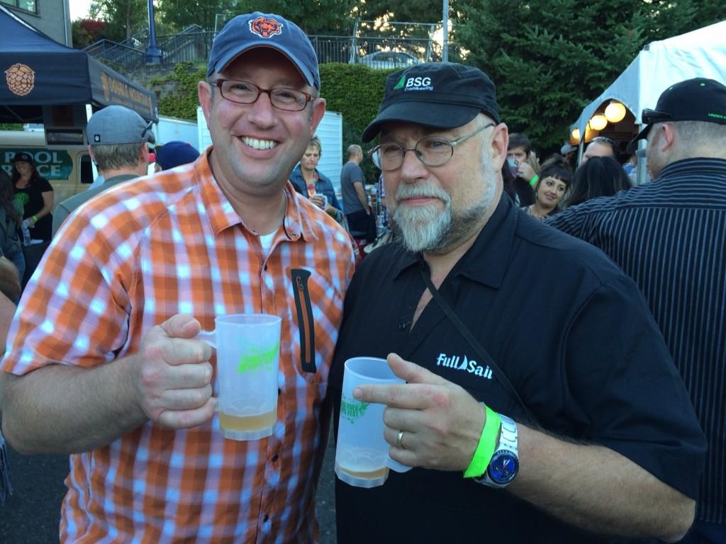Brewpublic's D.J. Paul and The Oregonian's John Foyston at Hood River Hops Fest