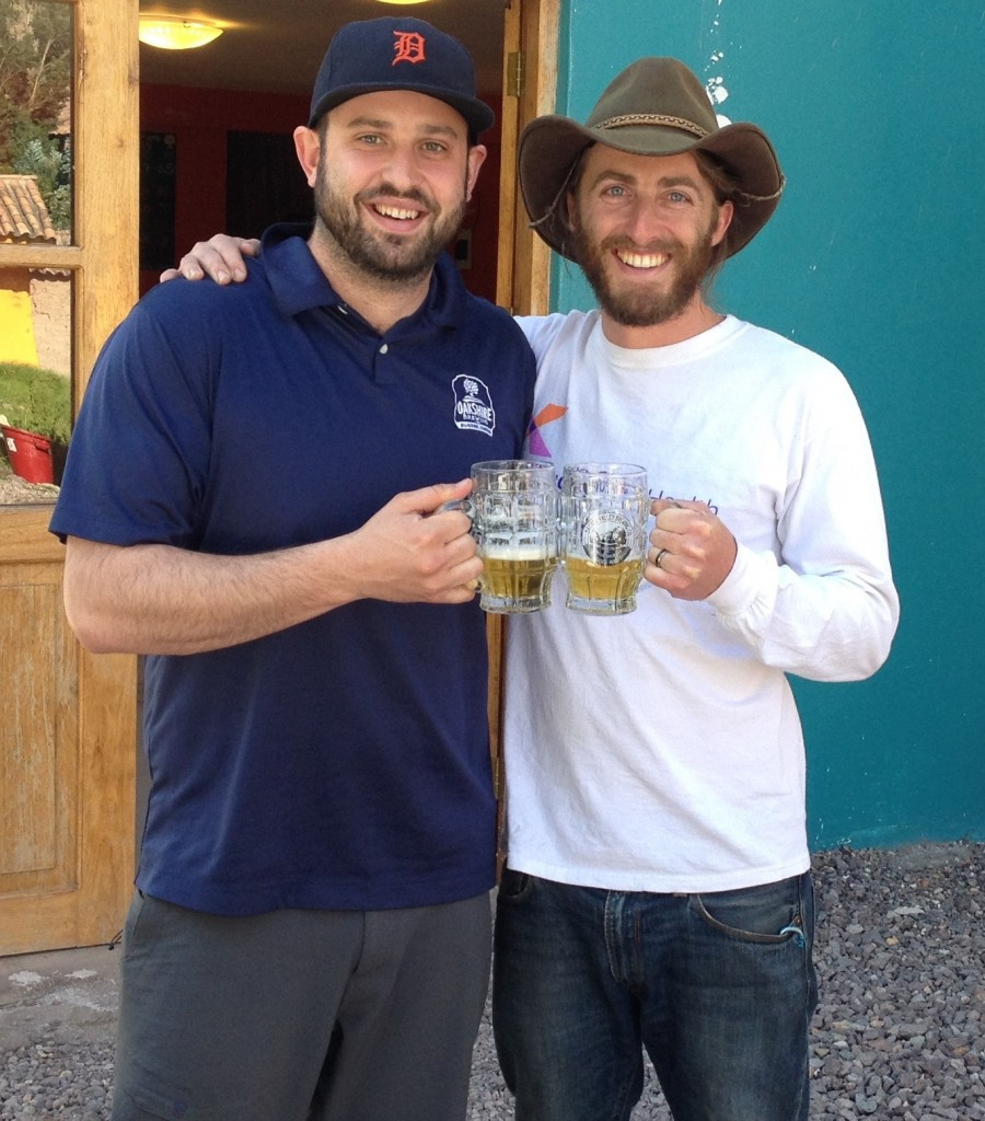 Brian Coombs and Joe Giammatteo at Sacred Valley Brewing Company