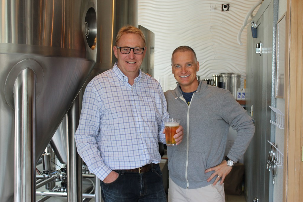 Brian Watson of SmartBrew and Chris Lenahan of Splash Brewing:Splash Bar