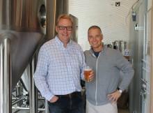 Brian Watson of SmartBrew and Chris Lenahan of Splash Brewing:Splash Bar