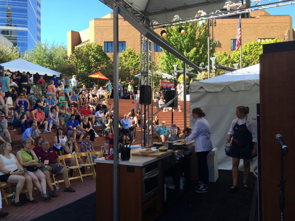 Cooking Demonstrations at Feast Portland Oregon Bounty Grand Tasting