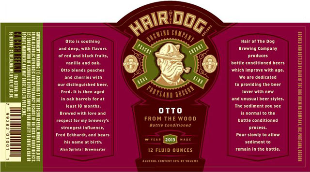 Hair of the Dog Otto Label