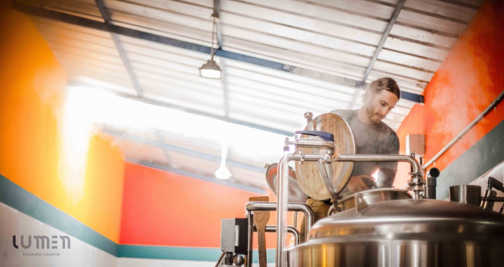 Joe Giammatteo brewing at Sacred Valley Brewing Company
