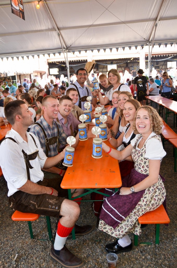Laughing Table at Mount Angel Oktoberfest (photo courtesy of Mount Angel Oktoberfest)
