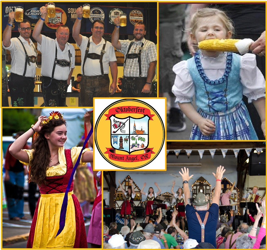 Mount Angel Oktoberfest Collage