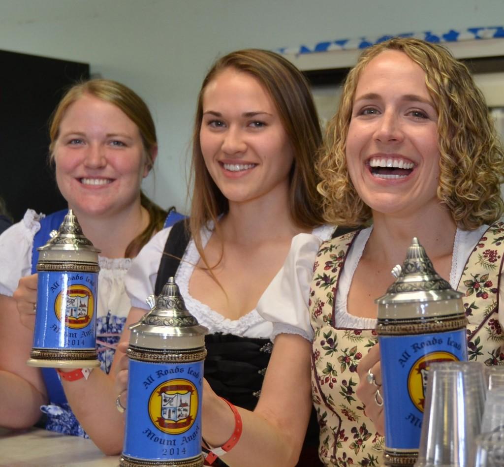 Mount Angel Oktoberfest Girls Serving Stein (photo courtesy of Mount Angel Oktoberfest)