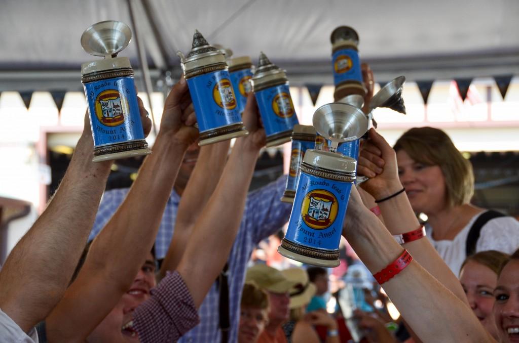 Mount Angel Oktoberfest Steins Up