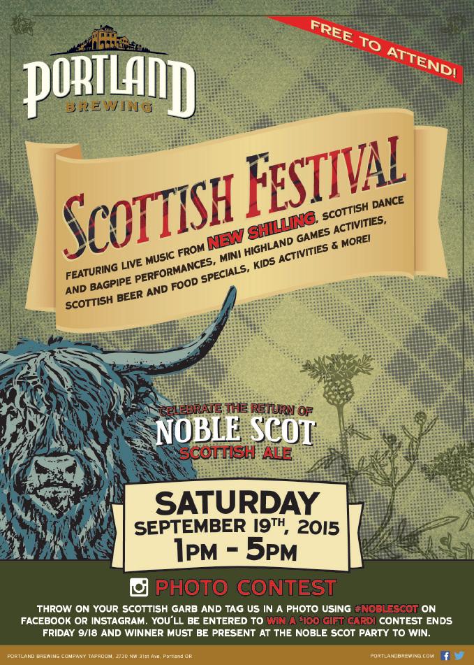 Portland Brewing Noble Scot Scottish Festival