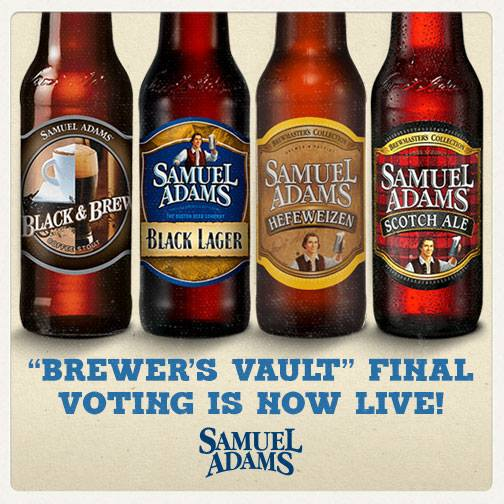 Samuel Adams Brewers Vault Voting
