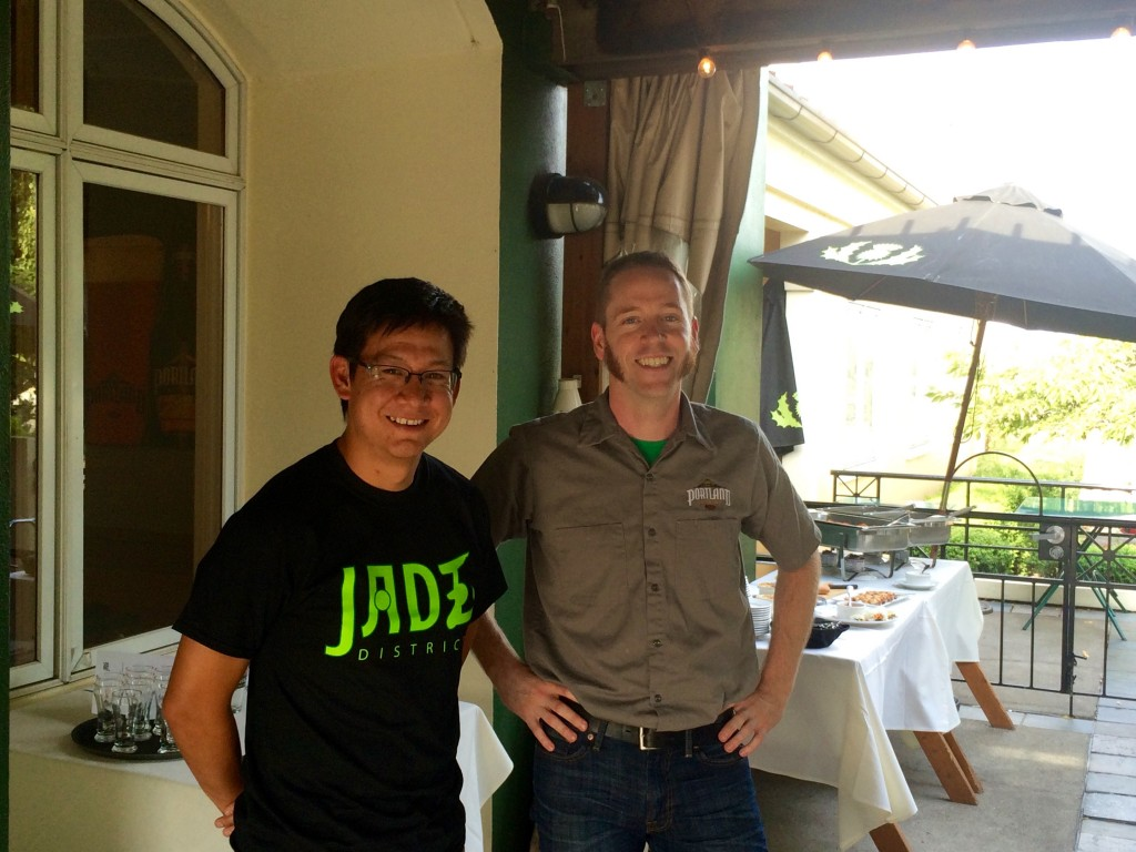 Todd Struble of Jade District and Ryan Pappe of Portland Brewing