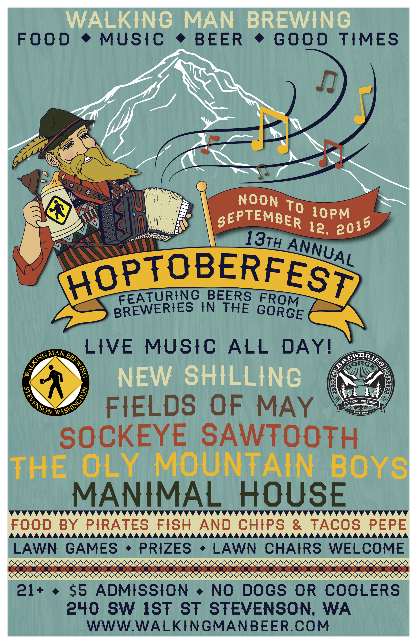 Walking Man Brewing's 13th Annual Hoptoberfest 2015