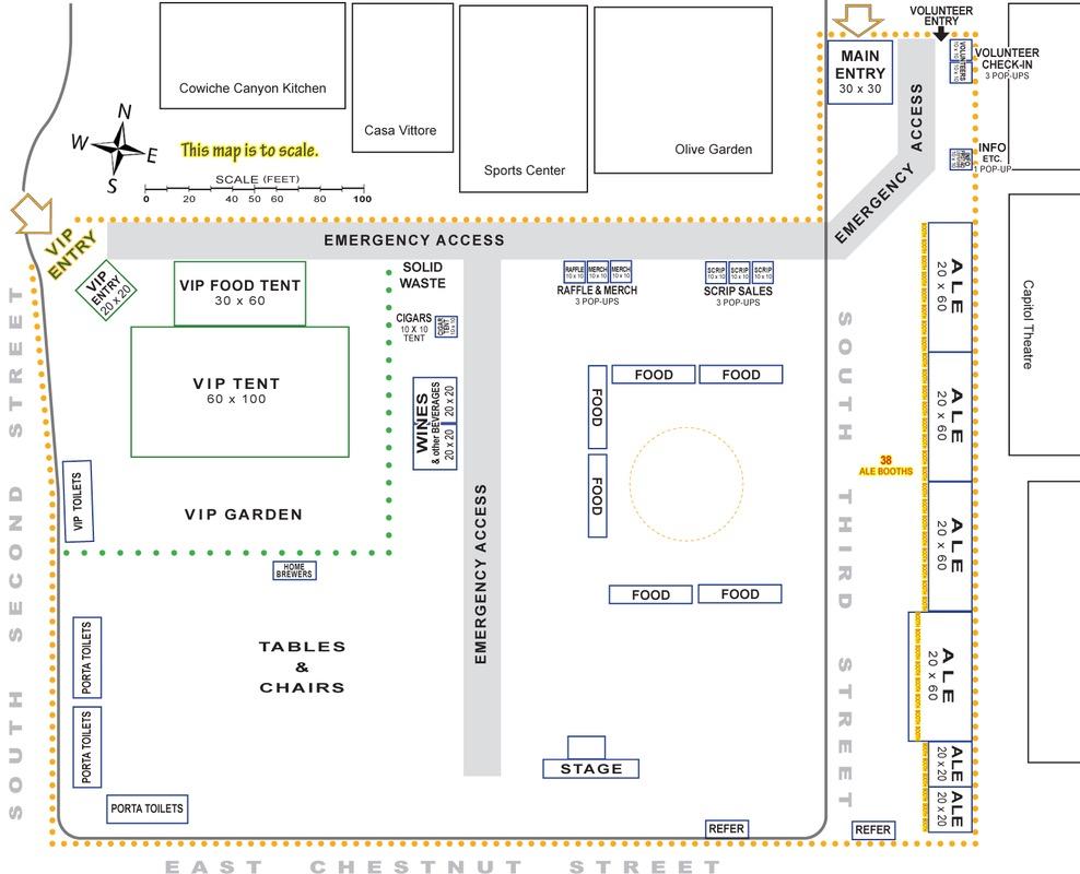 Yakima Fresh HopAle Festival Map
