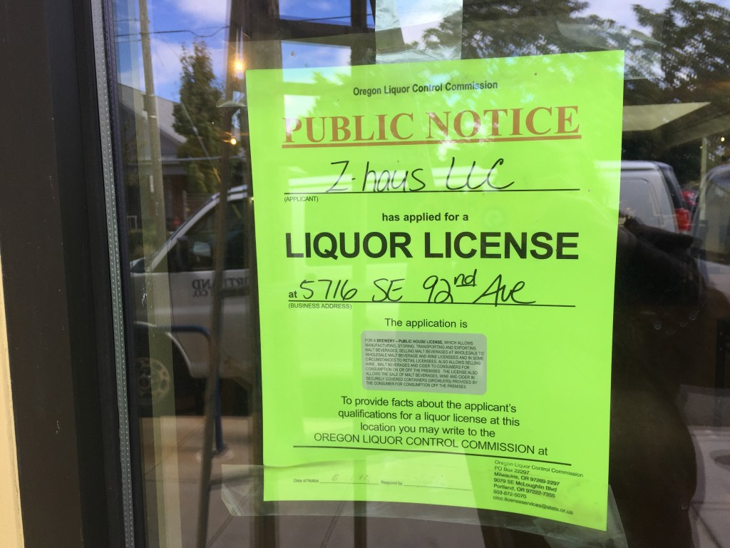 Liquor License App at Zoiglhaus Brewing Co.