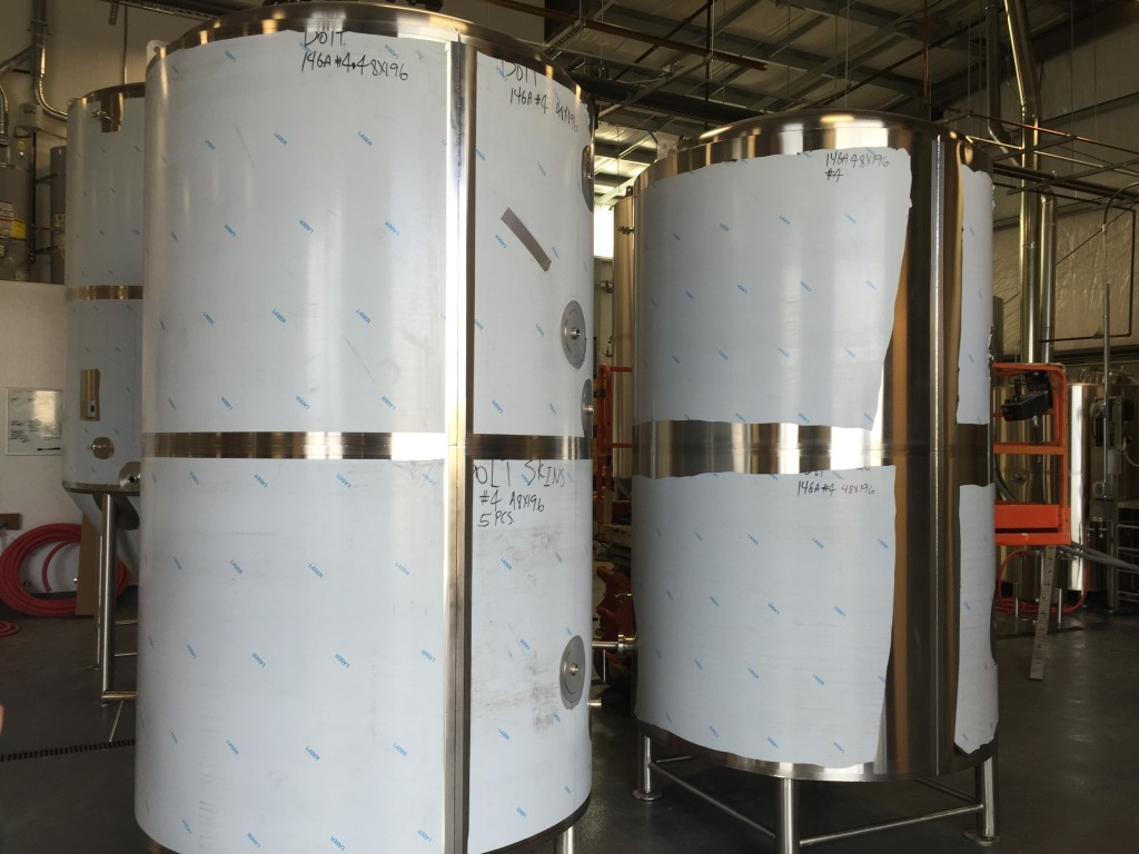 New brew tanks from Practical Fusion of Tualatin, OR at 54°40′ Brewing Co. in Washougal, WA