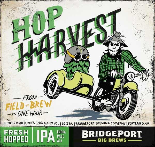 2015 BridgePort Hop Harvest Label