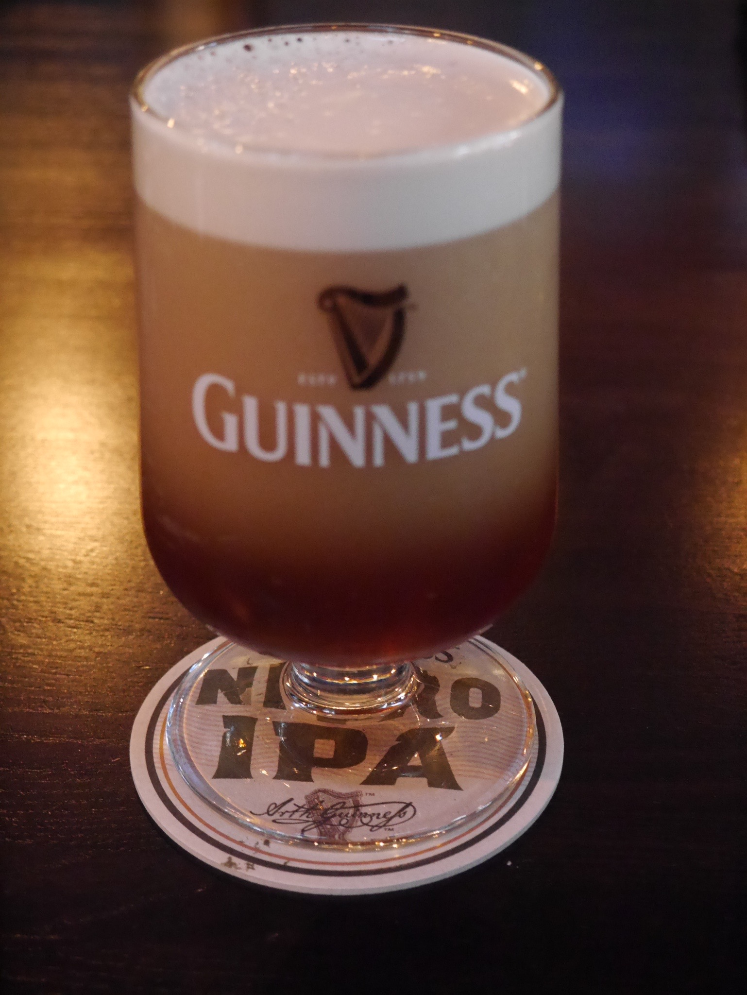 A creamy pour of Guinness Nitro IPA (photo by Cat Stelzer)