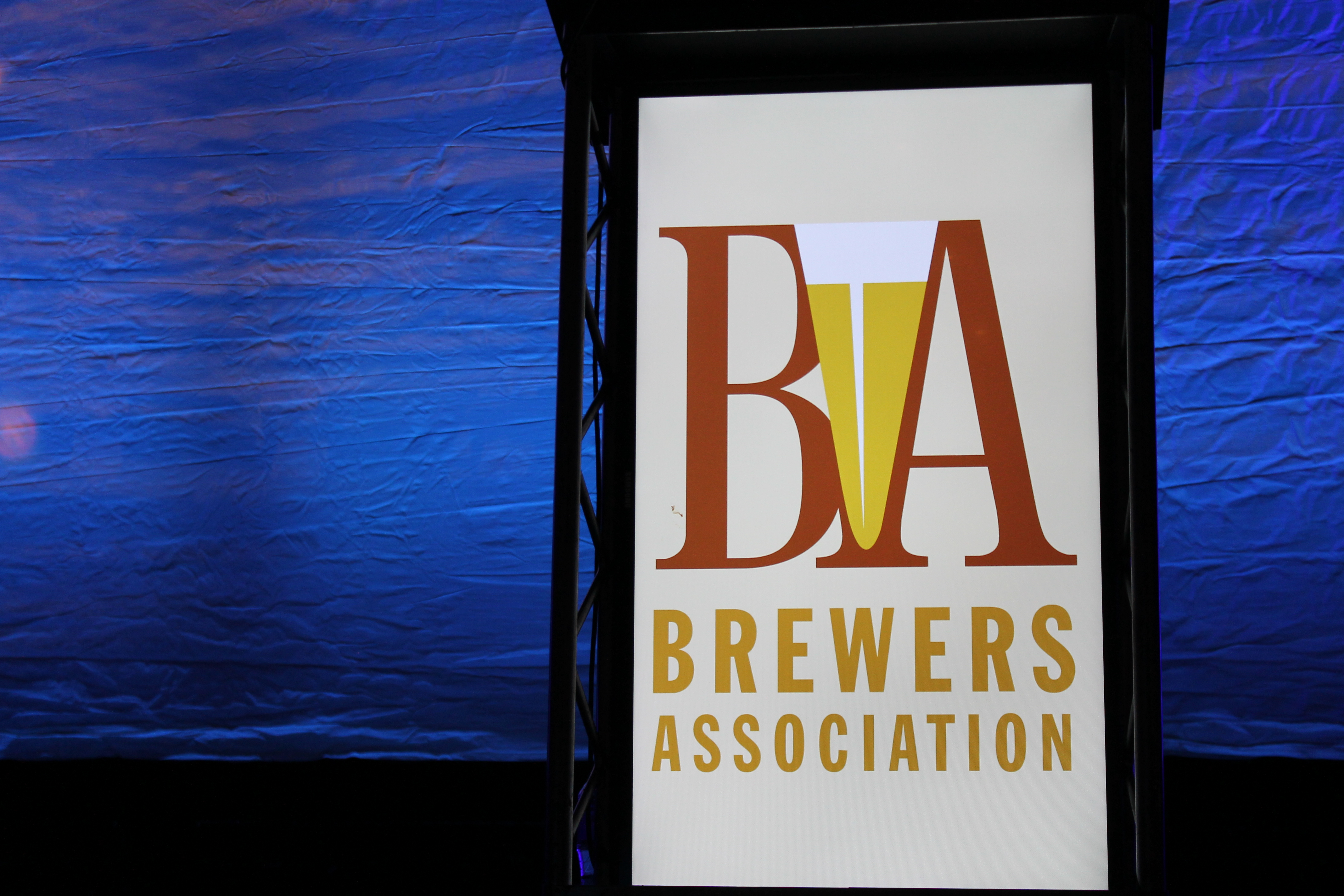 Brewers Association Sign at 2015 GABF Awards