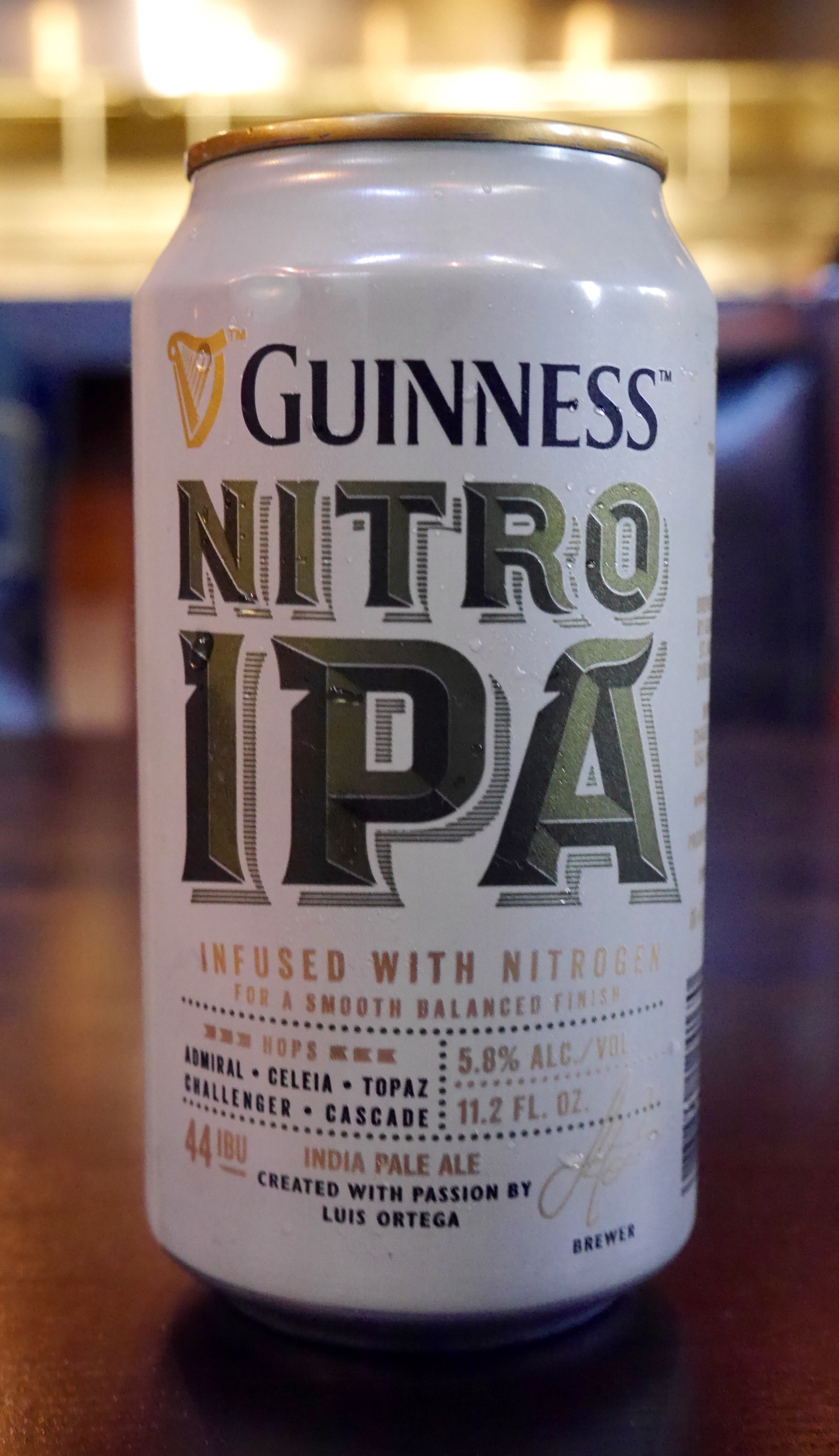 Can of Guinness Nitro IPA (photo by Cat Stelzer)