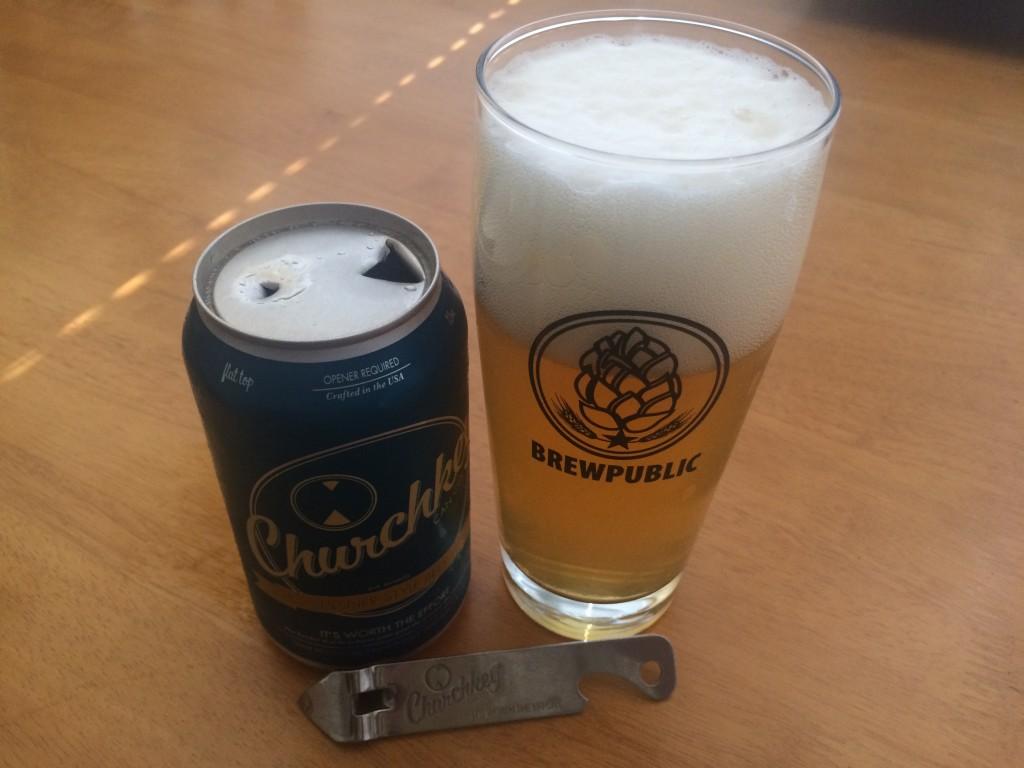 Churchkey Poured into a Brewpublic Glass