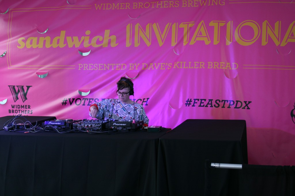 DJ'ing at Feast Portland Sandwich Invitational
