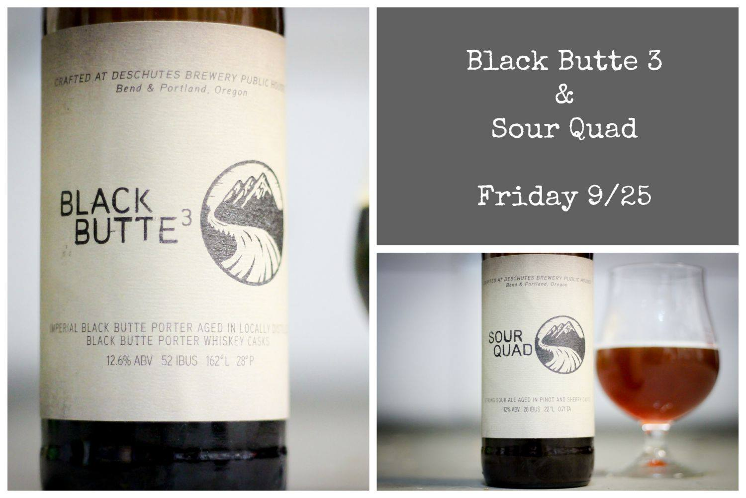 Deschutes Brewery Black Butte³ & Sour Quad Release