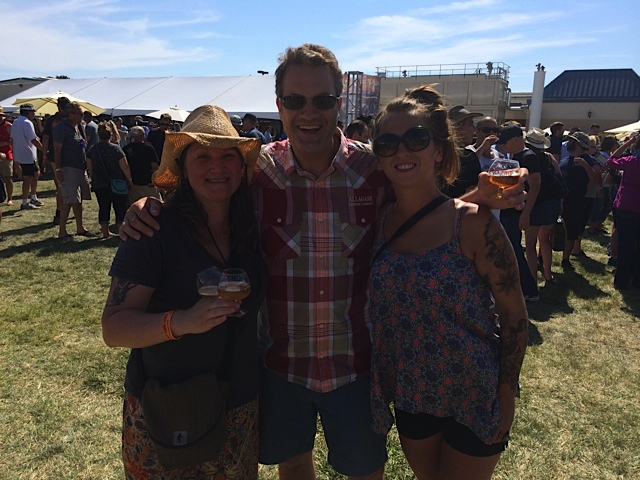 Erika Huston, Rob Tod of Allagash Brewing and Kathleen Finn at 2014 Sierra Nevada Beer Camp Across America