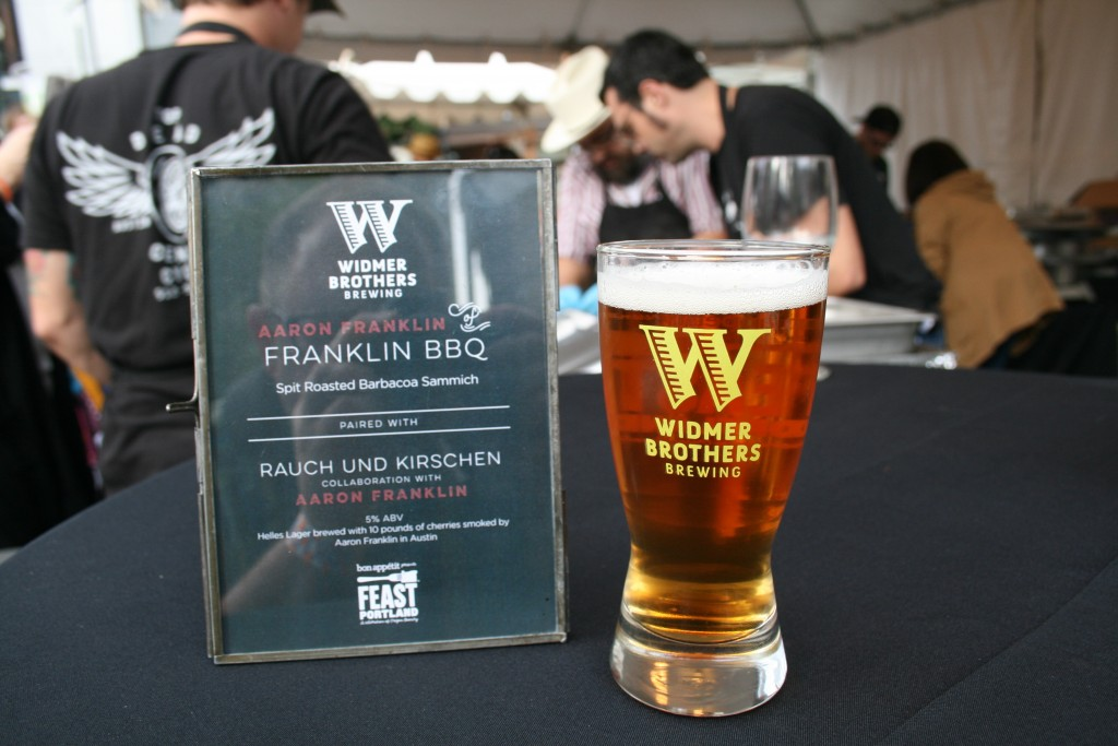 Franklin BBQ and Widmer Collaboration at Feast Portland Sandwich Invitational