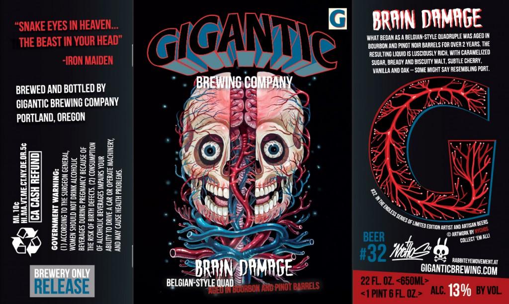 GIGANTIC BRAIN DAMAGE Label