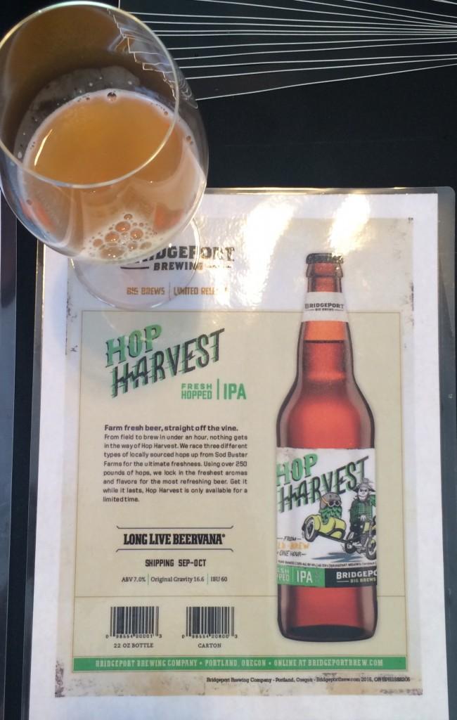 Glass of 2015 BridgePort Hop Harvest