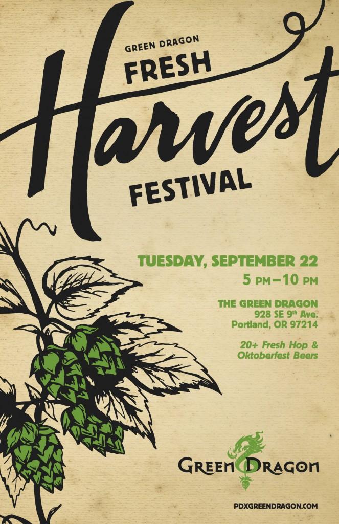 Green Dragon Fresh Harvest Fest Poster