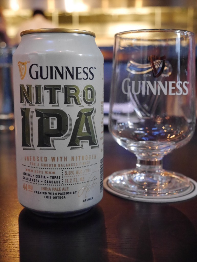 Guinness Nitro IPA Can and Glass (photo by Cat Stelzer)