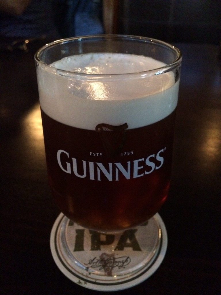 Guinness Nitro IPA Glass Pour (photo by Cat Stelzer)