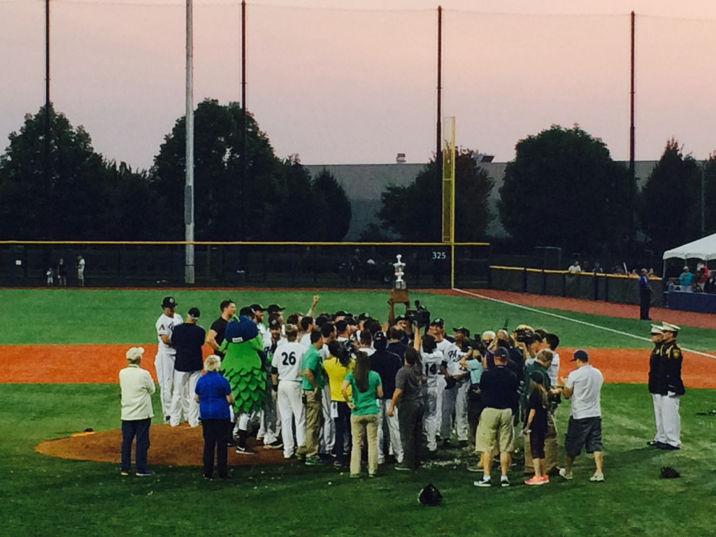 Hillsboro Hops Win the 2014 Northwest League Championship (photo by D.J. Paul)