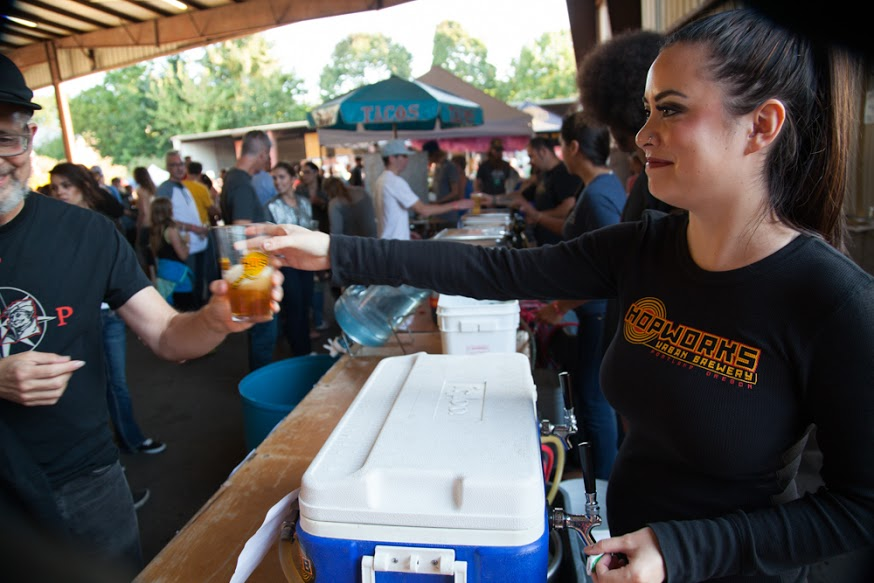Hopworks Beer at Handmade Bike & Beer Festival (photo credit Tim LaBarge)