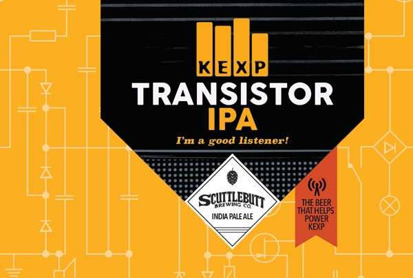 KEXP and Scuttlebutt Transistor IPA Label