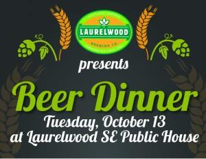 Laurelwood SE Public House Beer Dinner 2015