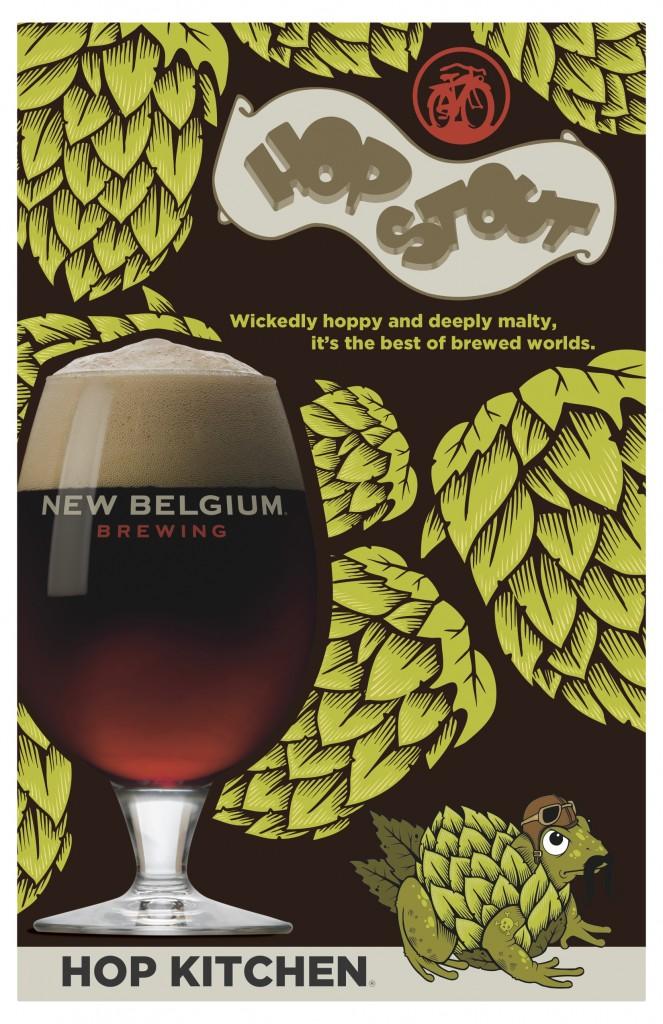 New Belgium Hop Kitchen Hop Stout Poster