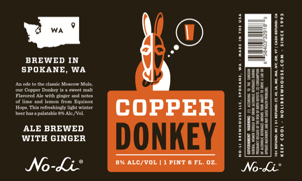 No-Li Copper Donkey Label