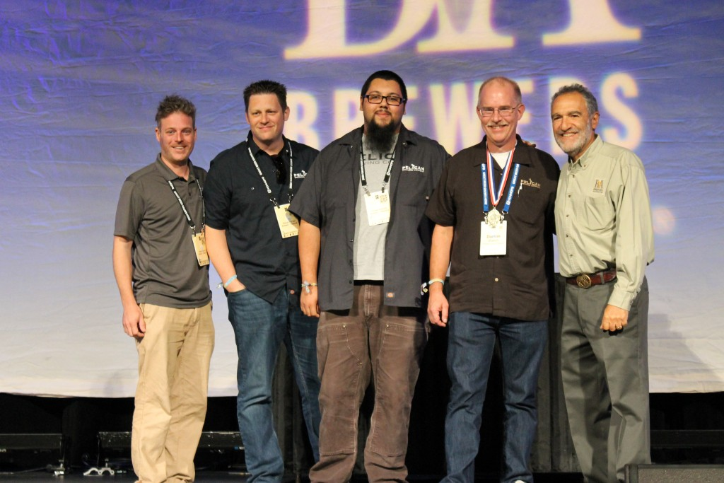 Pelican Brewing at 2015 GABF Gold Medal for McPelican's Wee Heavy