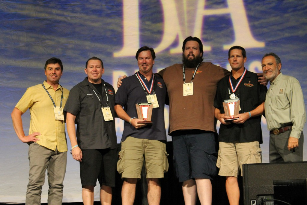 Rip Current Brewery at 2015 GABF Awards Receiving Very Small Brewpub Award