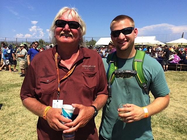 Steve Dresler (left) and Brian Grossman at 2014 Sierra Nevada Beer Camp Across America. (photo by D.J. Paul)