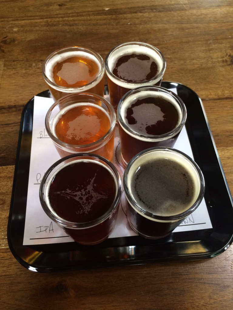 Taster Tray at Montavilla Brew Works