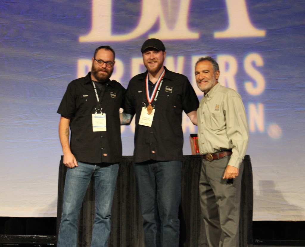 The Commons Sean Burke and Kyle Krause receives the 2015 GABF Bronze for Petit Classic