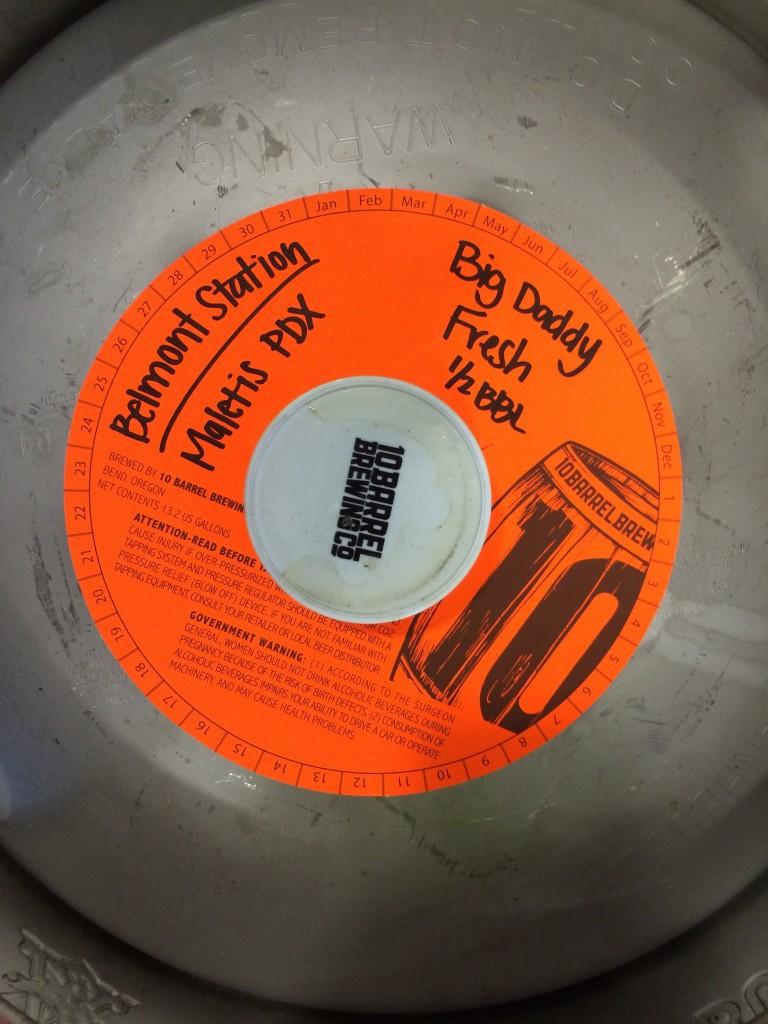 10 Barrel Big Daddy Fresh destined for Belmont Station