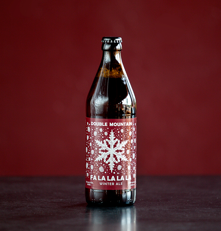 A bottle of Double Mountain Fa La La La La. (image courtesy of Double Mountain)