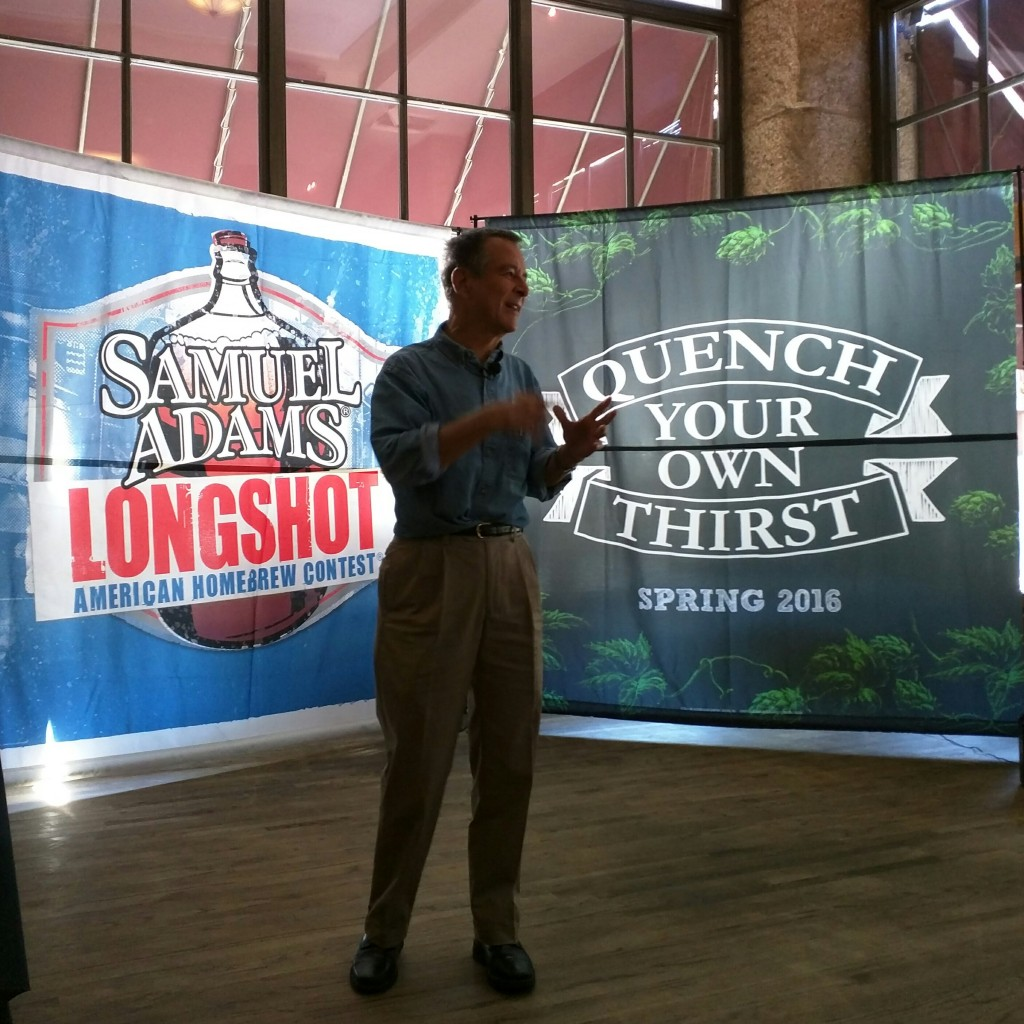 Jim Koch discusses his upcoming book during the Great American Beer Festival, 2015