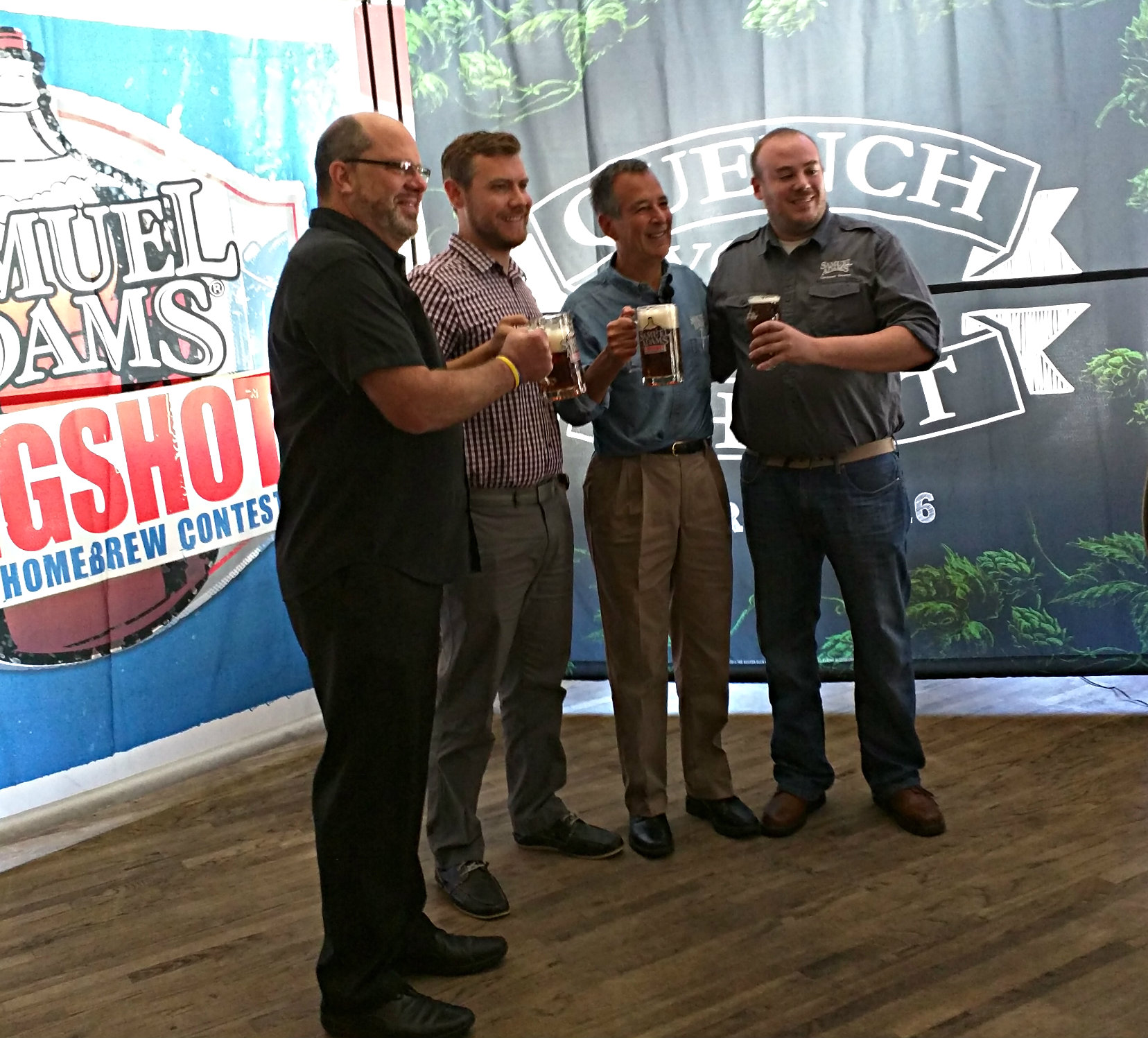 Samuel Adams Jim Koch with the Longshot winners at 2015 GABF.