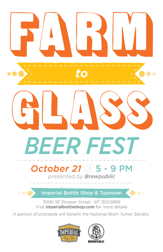 Killer Beer Week BREWPUBLIC & Imperial Killer Farm To Glass Poster 2015