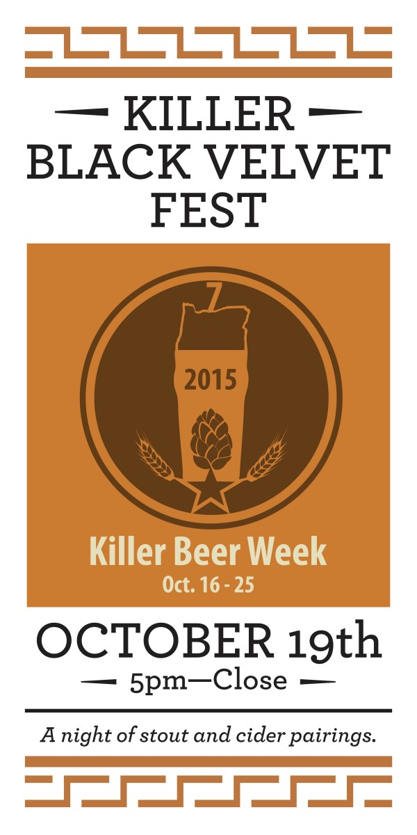 Killer Beer Week - Killer Black Velvet Poster 2015
