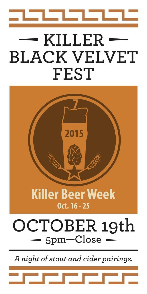 Killer Beer Week - Killer Black Velvet Poster 2015